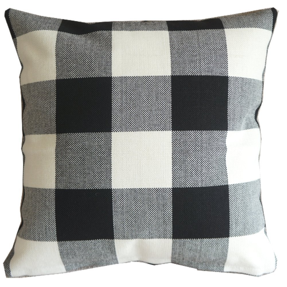 Buffalo Check Neutral Fall Pillow