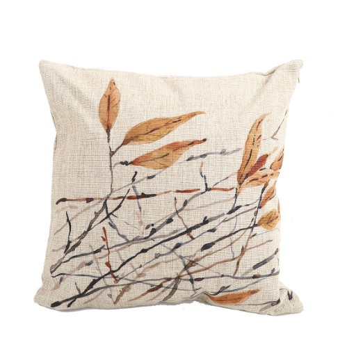 branches neutral fall pillows