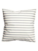 gray striped neutral fall pillows