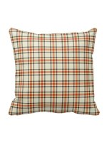orange plaid fall pillows