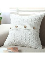 sweater pillow neutral fall decor