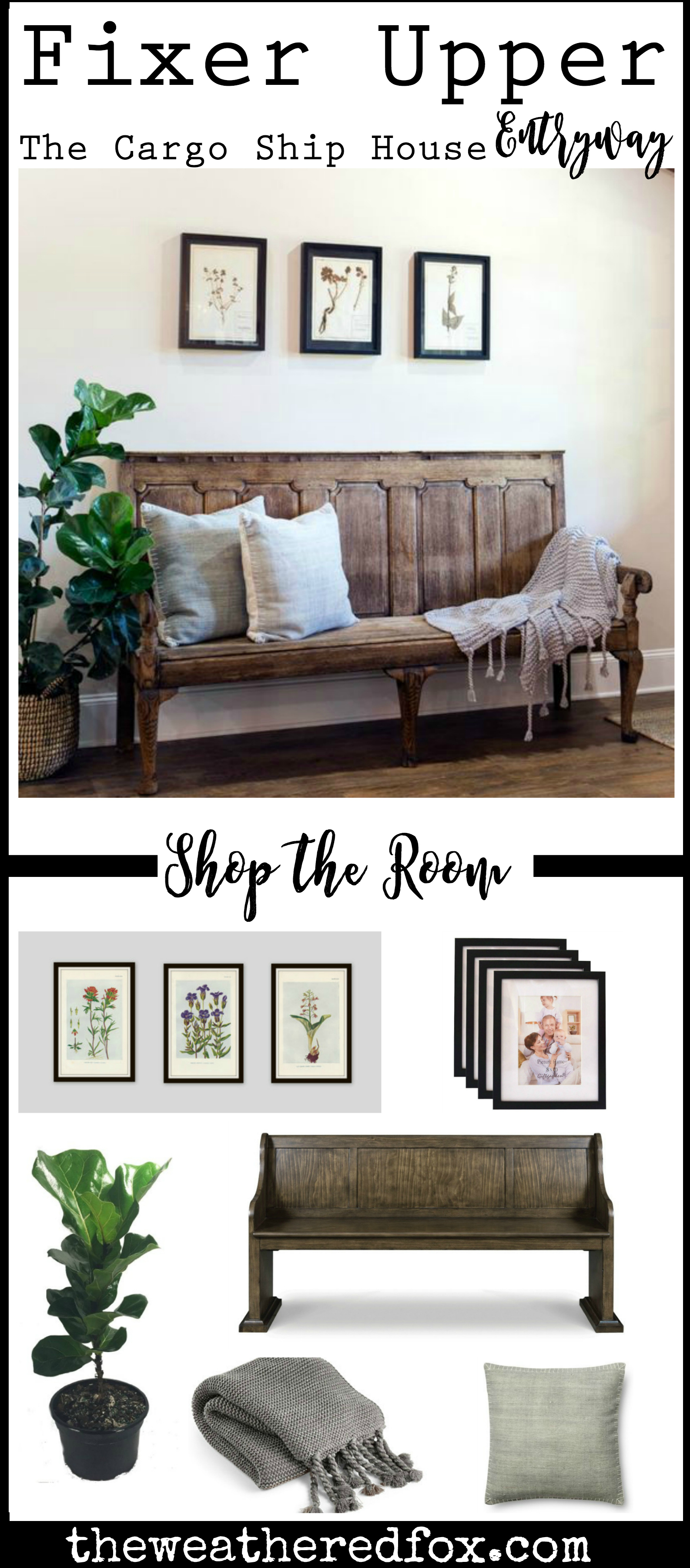Get the look of the Fixer Upper Cargo ship House entryway!
