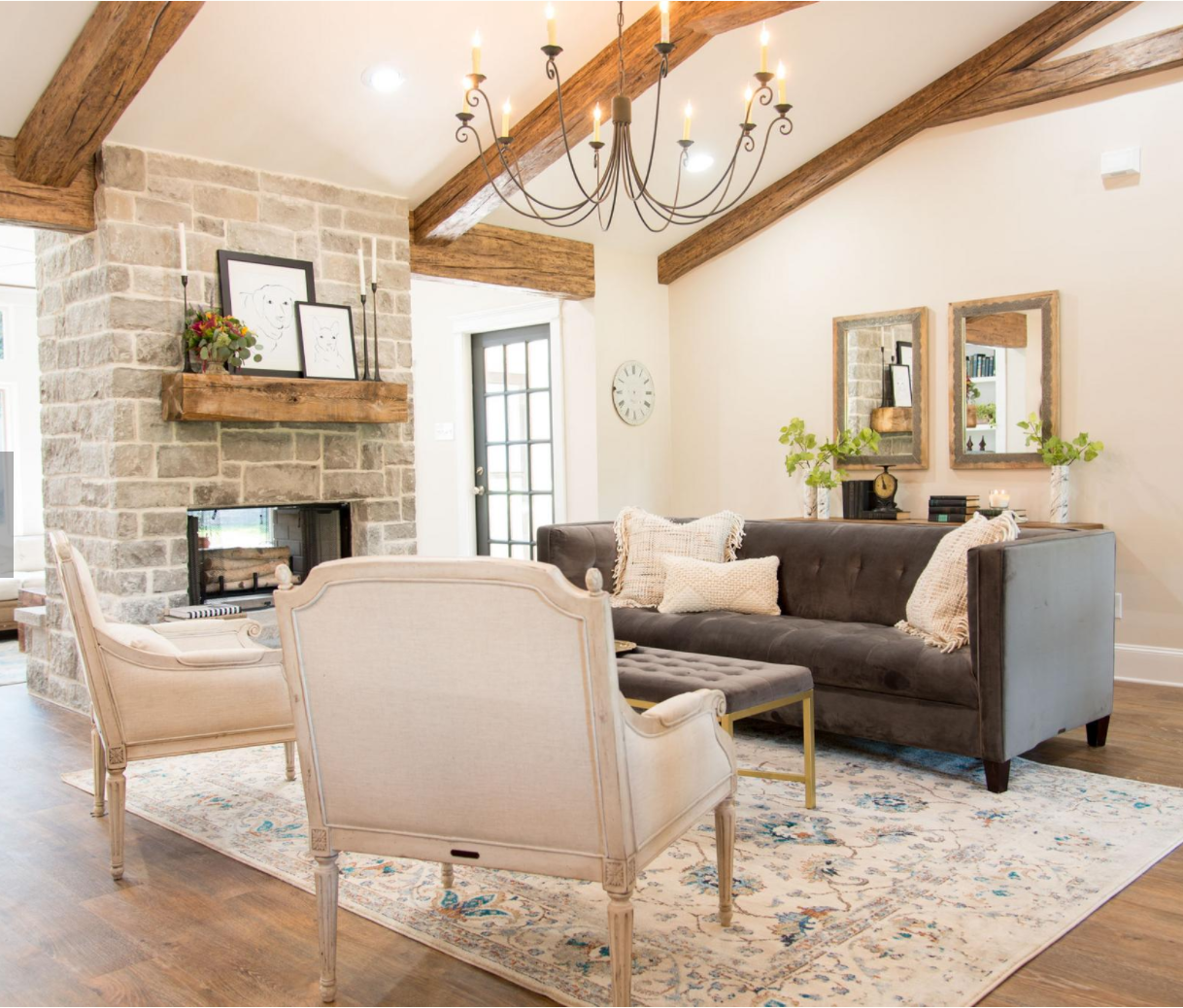 Fixer Upper Season 4 Episode 1 Living Room The Weathered Fox