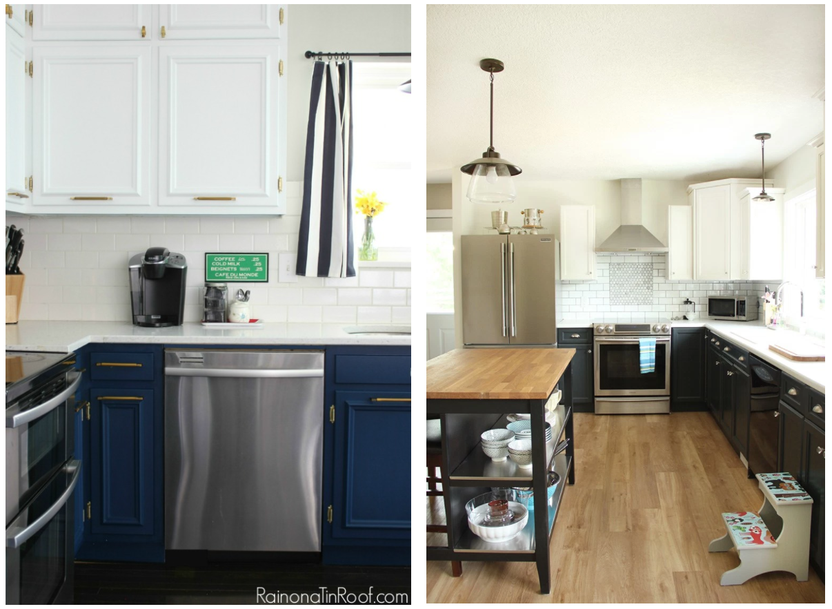 5 Two Toned Diy Kitchen Looks That You Can Create With Just