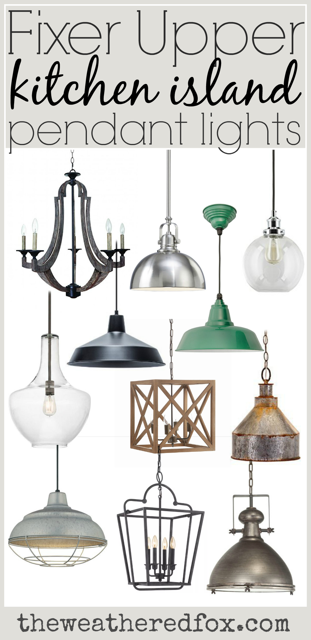 Fixer Upper Kitchen Island Pendant Lighting