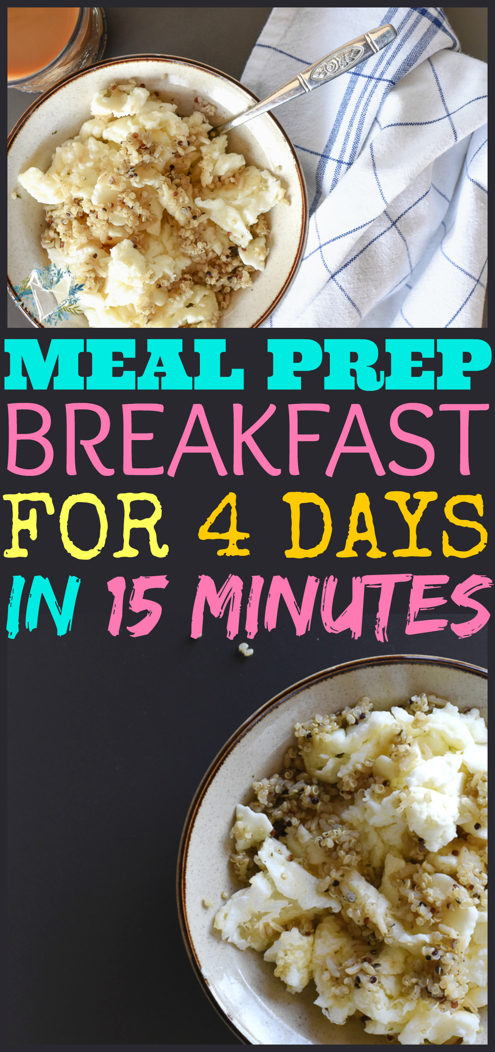 HOW I COOK BREAKFAST FOR 4 DAYS IN 15 MINUTES. This clean eating two ingredient recipe will change your life!