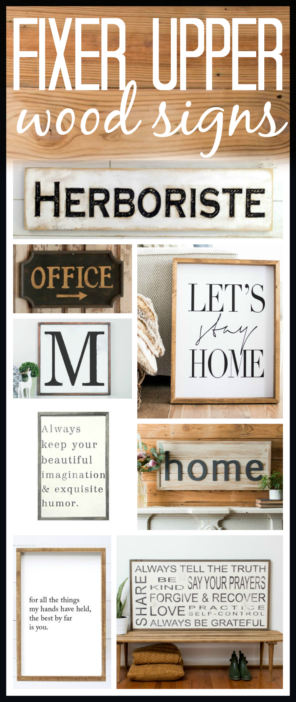 Fixer Upper Farmhouse Signs