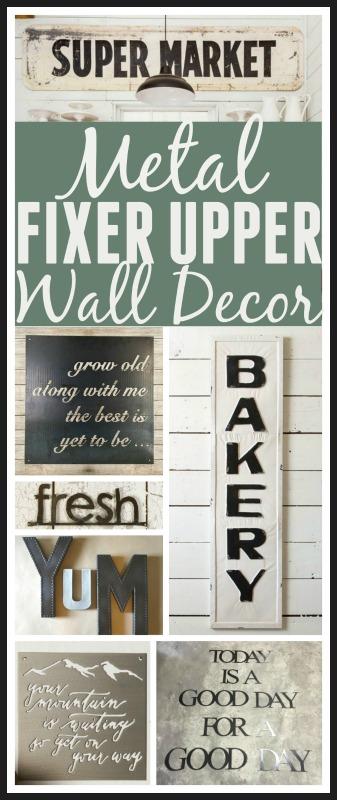 Fixer Upper Metal Signs. Get the fixer upper look with Joanna's favorite metal signs