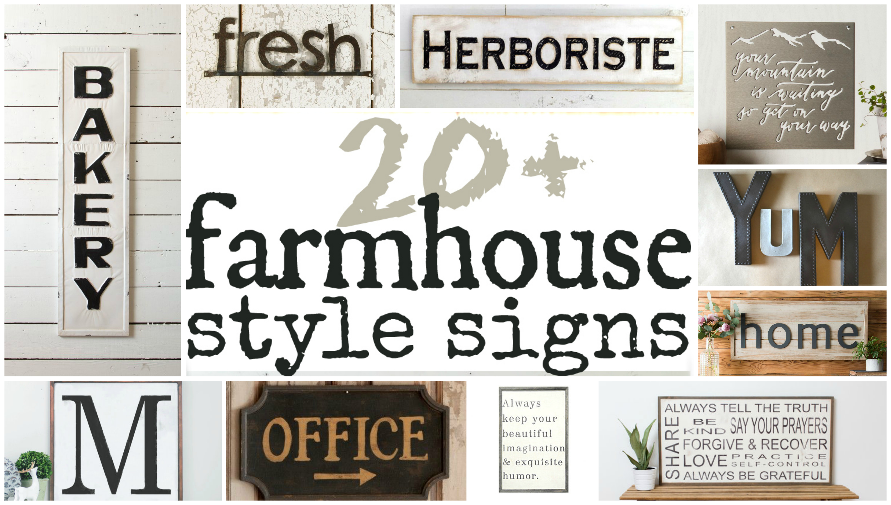 Fixer Upper Farmhouse Signs The Weathered Fox