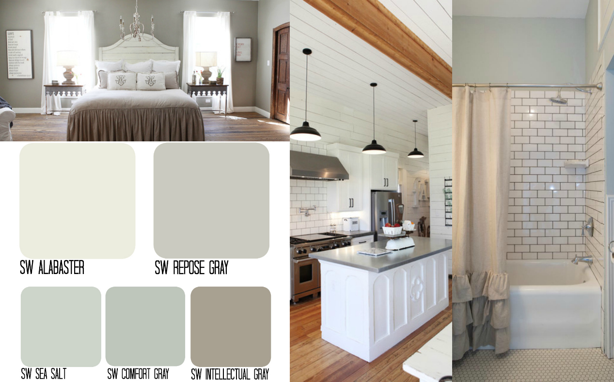 92 farmhouse color scheme sherwin williams farmhouse for Whole house neutral paint colors