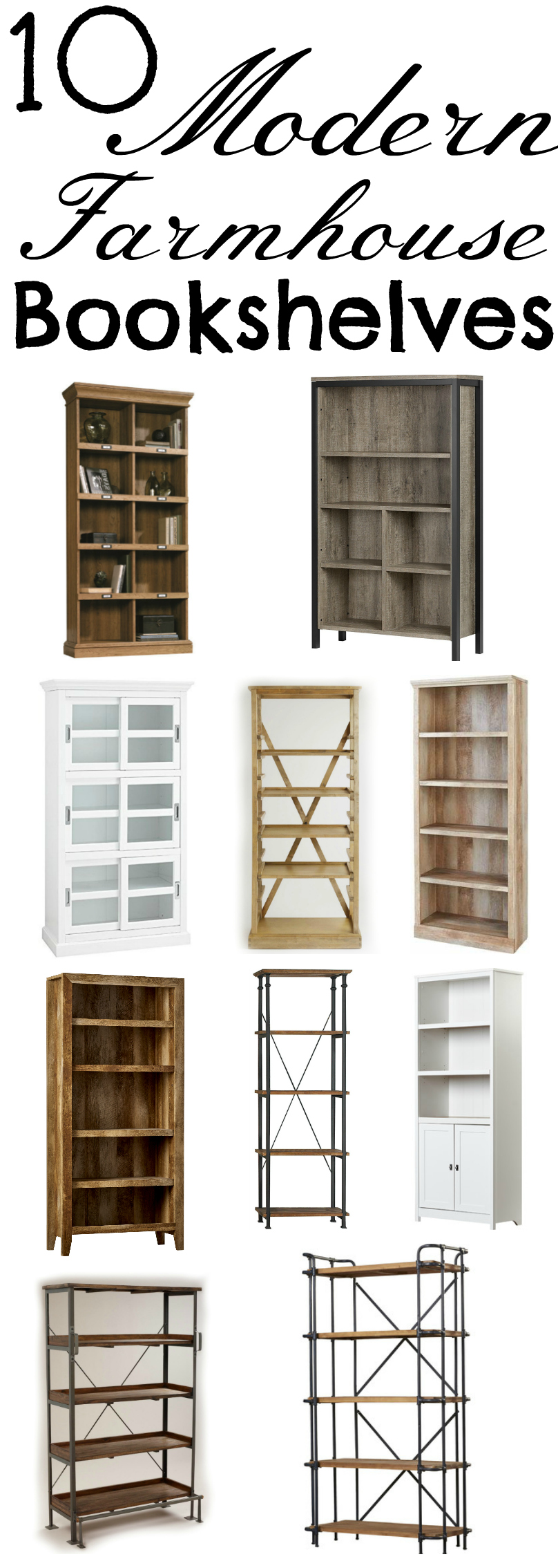 10 Modern Farmhouse Bookshelves for a Fixer Upper Farmhouse Look