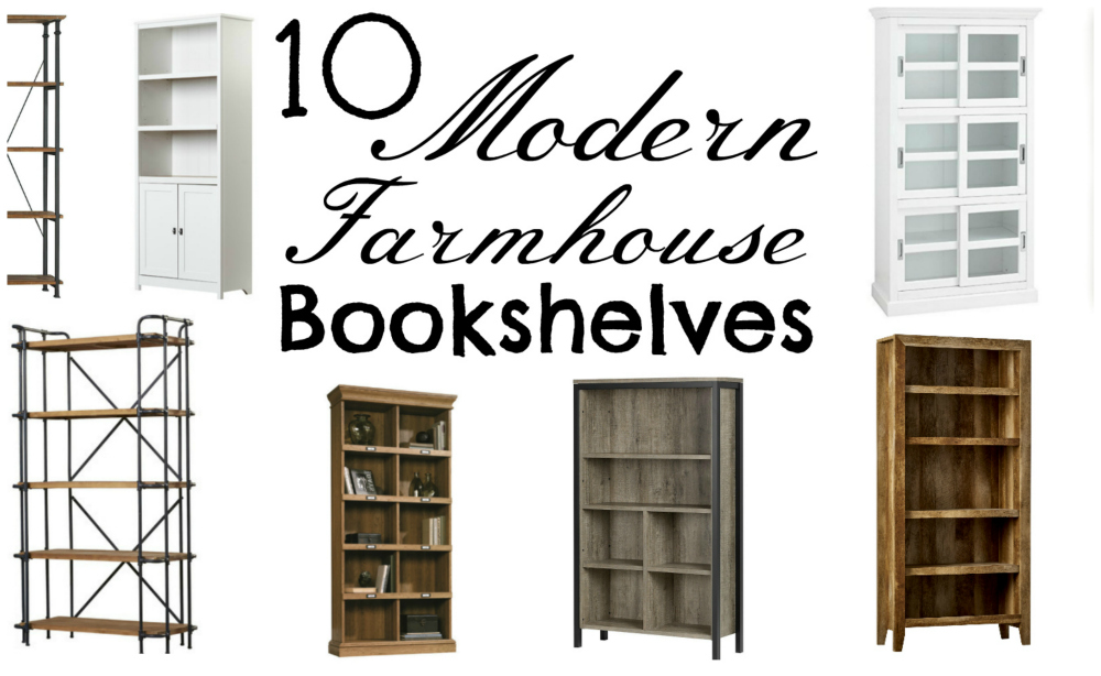 10 modern farmhouse bookshelves featured image