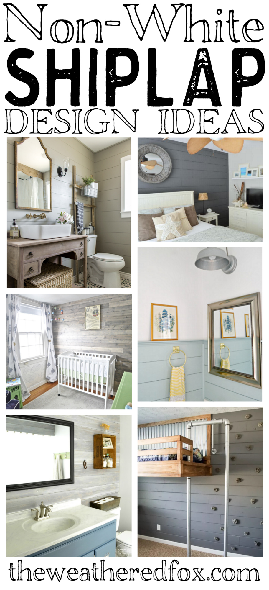 Amazing Non-White Shiplap Ideas for those who need a little color on their walls