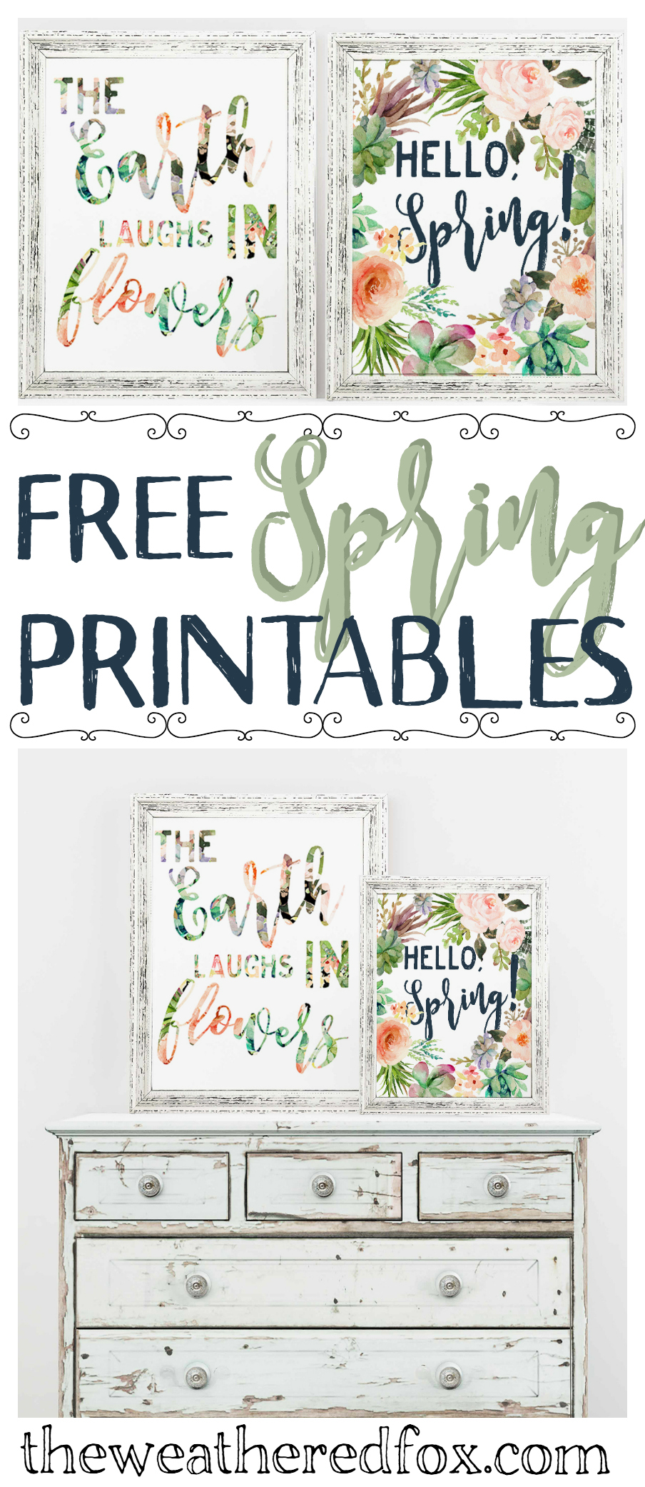 photo regarding Spring Printable titled Hi there, Spring! Free of charge Printable - The Weathered Fox