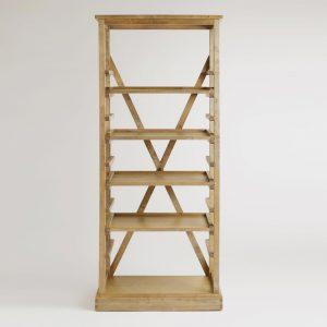 campaign bookshelf fixer upper style
