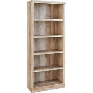 light wood farmhouse bookshelf