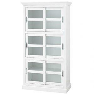 white glass door bookshelf