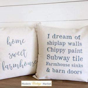 fixer upper season 1 episode 1 farmhouse style pillows
