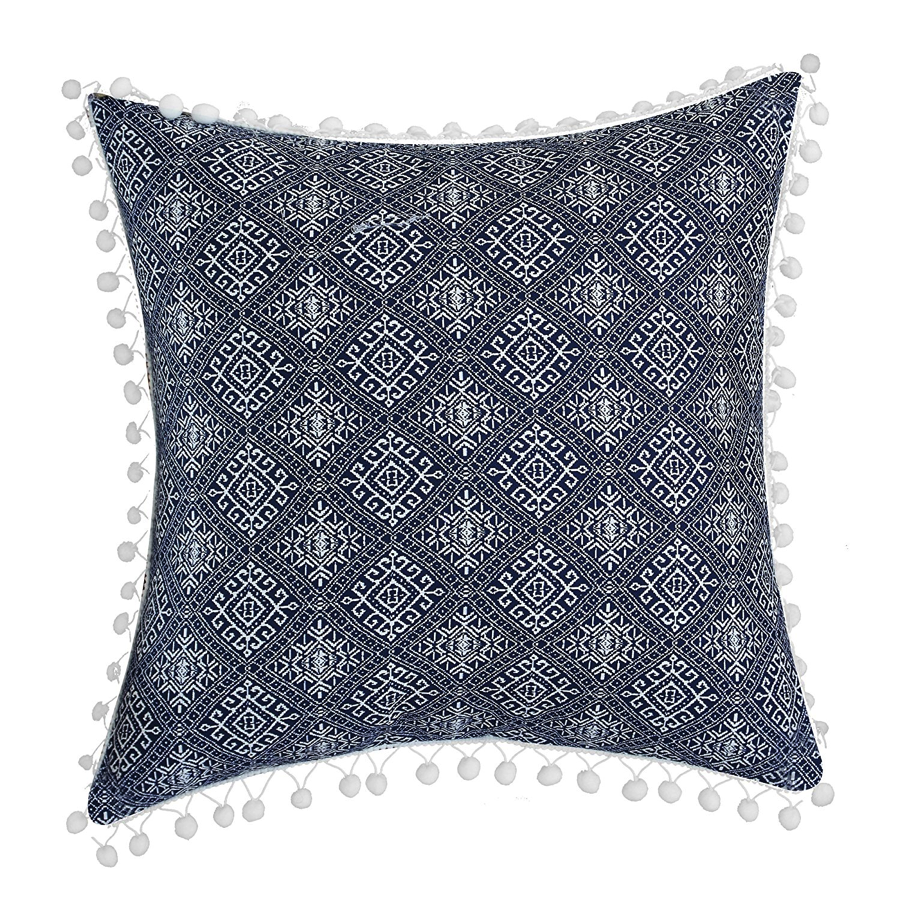 Fixer Upper Season 1 Episode Living Room Navy Pillow