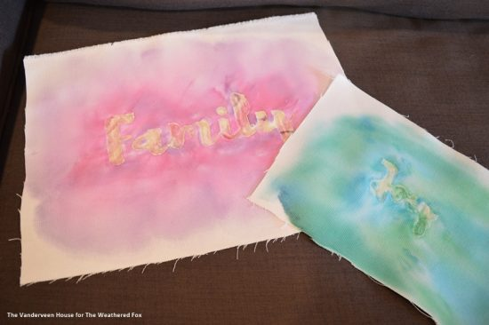 How to make your own watercolor word art