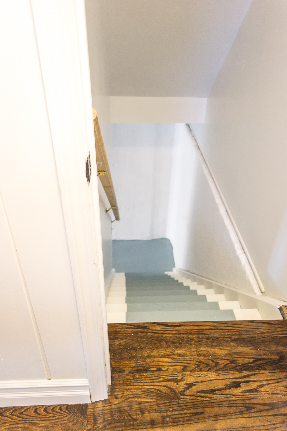 Paint Your How To Paint Basement Stairs And Give Wood Stairs A Fresh  Farmhouse Style.