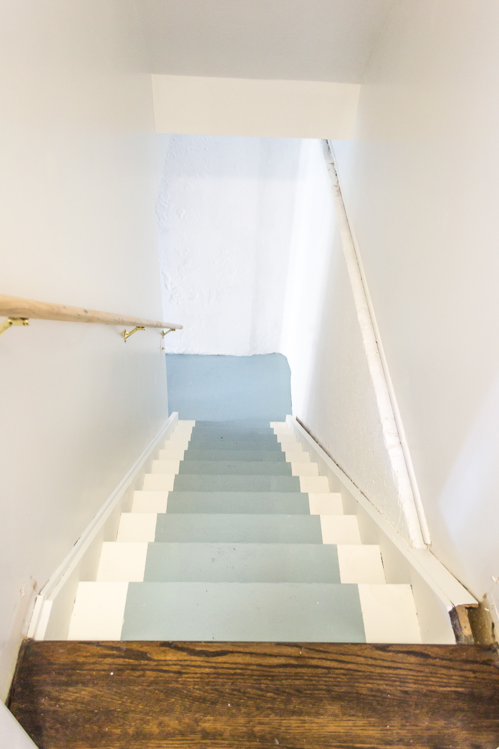 ... How To Paint Basement Stairs And Give Wood Stairs A Fresh Farmhouse  Style. Paint Your