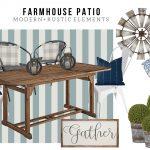 Farmhouse Patio Design Board