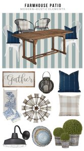 Farmhouse Patio Design Board, Mood Board