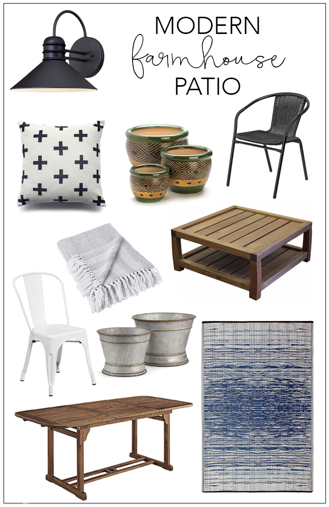 Modern Farmhouse Patio Shopping Guide | The Weathered Fox