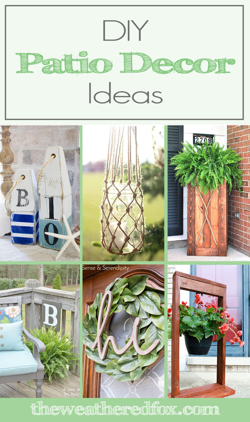 Diy patio decor ideas to spruce up your exterior the for Patio accessories ideas