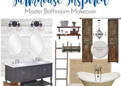 Farmhouse Inspired Master Bathroom Makeover