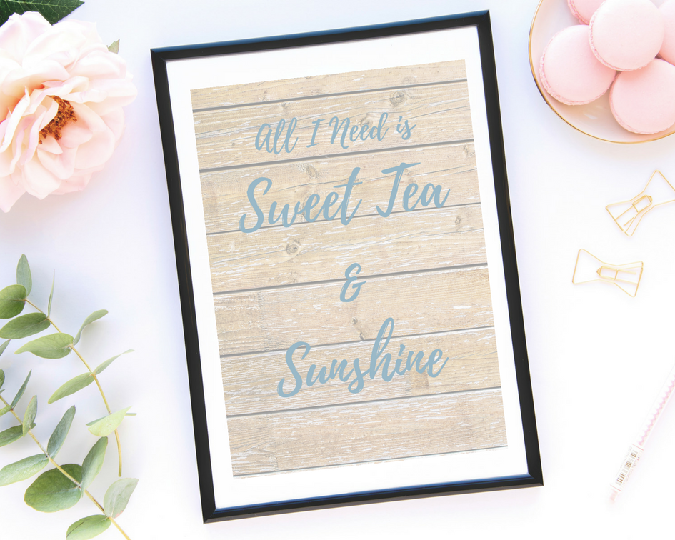 Decorating for Summer: Sweet Tea and Sunshine Printable