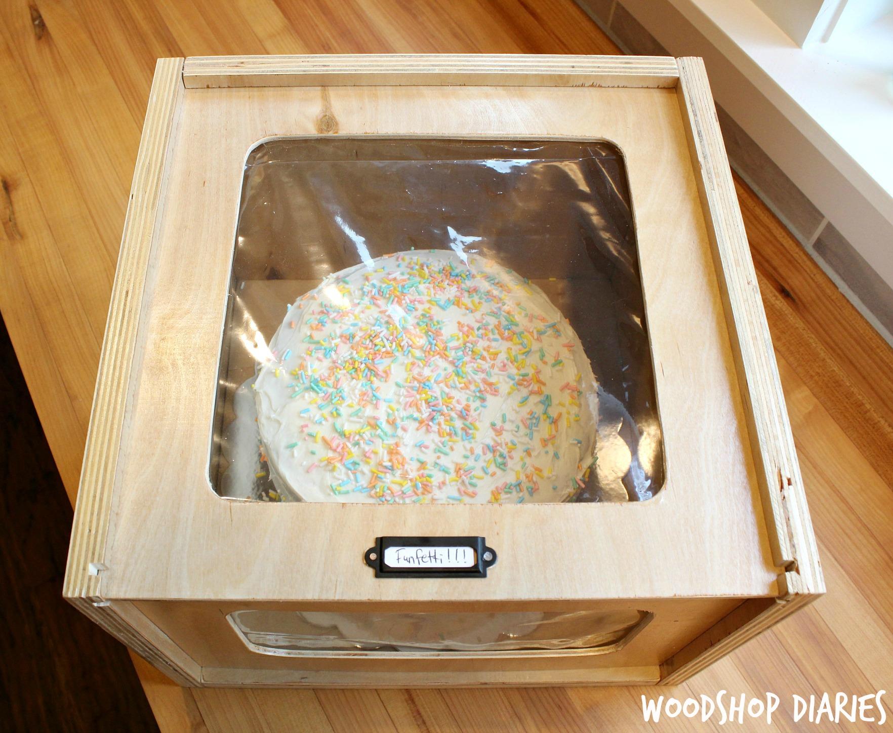 Thinking Outside the Box–DIY Scrap Wood Cake Box
