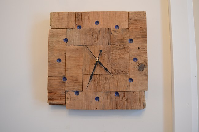 Barnboard Clock By The Vanderveen House