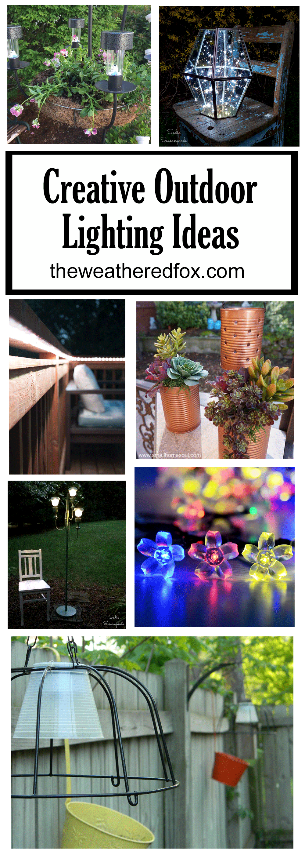 These 12 creative outdoor lighting ideas are sure to spark some inspiration into lighting up your own patio or deck! www.theweatheredfox.net
