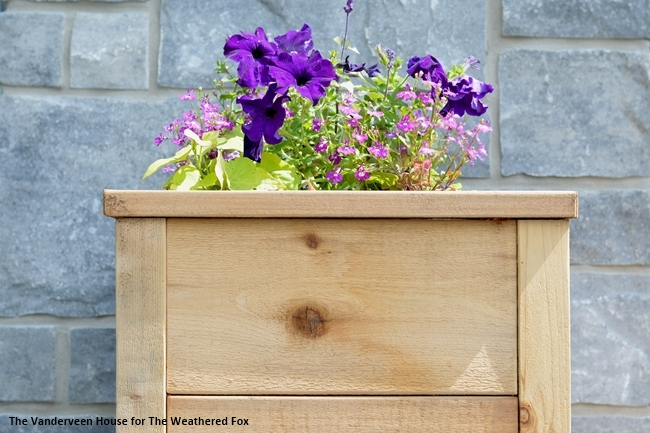 How To Build A Cedar Planter With Rough Cut Lumber
