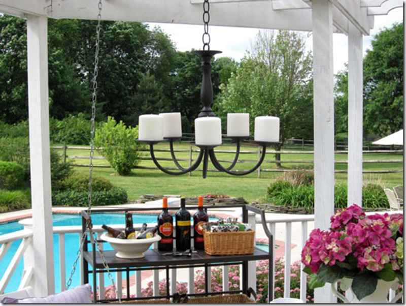 Diane Over At In My Own Style Made This Beautiful Outdoor Candle  Chandelier. I Love This Idea! Check Out Her Easy Tutorial Here.
