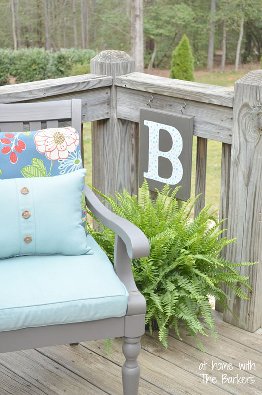 At Home With The Barkers Shows You How To Add A Personalized Touch To Your  Patio With Her DIY Monogrammed Flag. Check Out Her Tutorial Here.