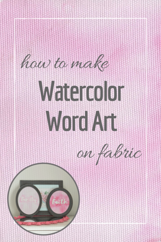 How to make watercolor word art on fabric using watercolor paint and removable resist