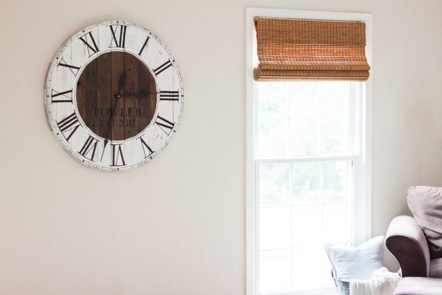 DIY Farmhouse Clock by Gather and Flourish