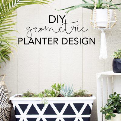 DIY Geometric Planter Design