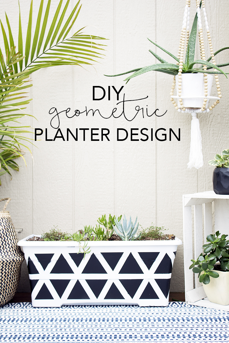 DIY Geometric Planter Design | My Breezy Room for The Weathered Fox