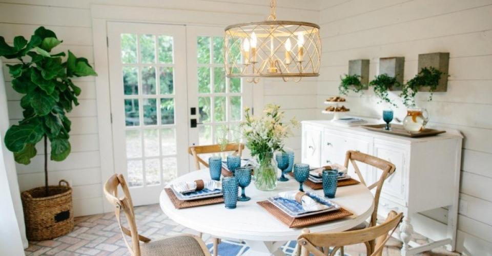 Dining Room Beanstalk Bungalow Fixer Upper Season 3