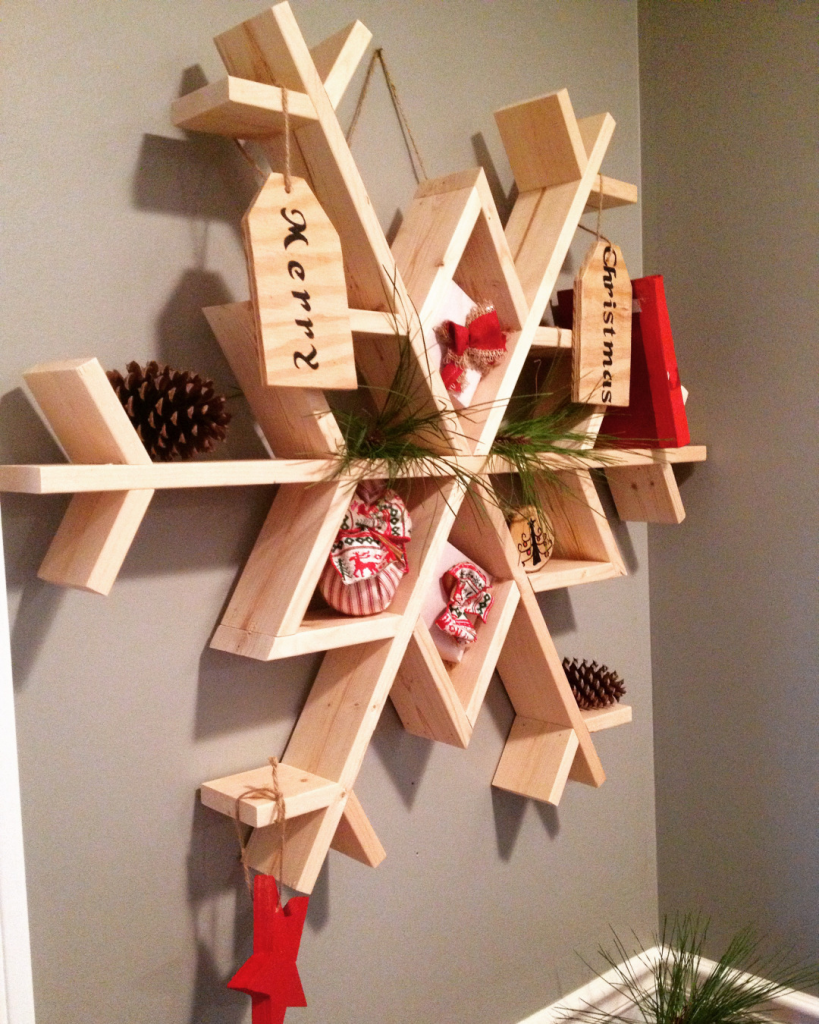 Snowflake Shelf by Woodshop Diaries