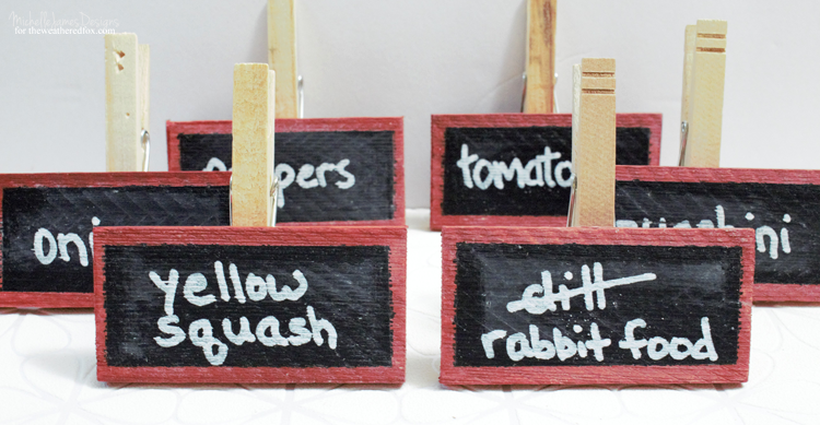Every garden needs markers. These DIY chalkboard garden markers are easy to make and can be re-used each year! - www.theweatheredfox.com