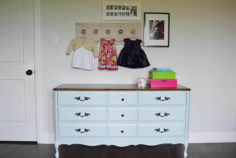 Aqua Blue Dresser Makeover Using Milk Paint