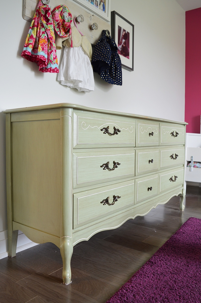 French provincial dresser makeover