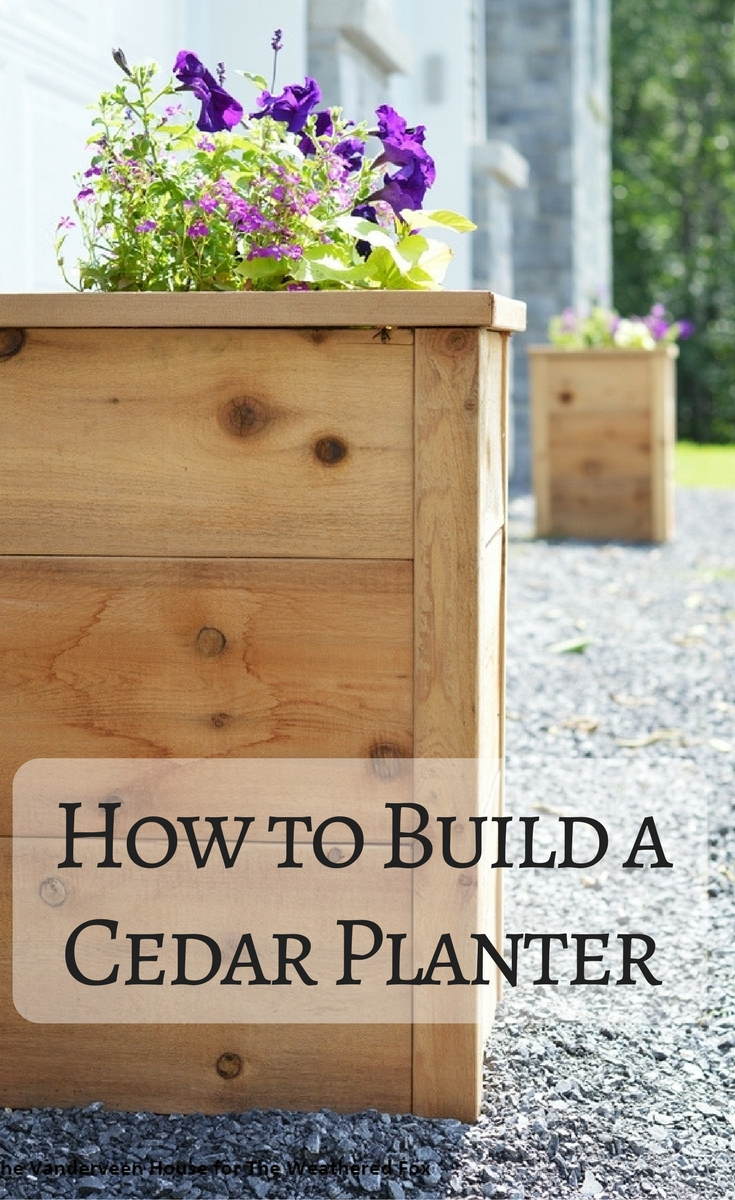 How to build a cedar planter using rough cut lumber, and instantly increase your curb appeal