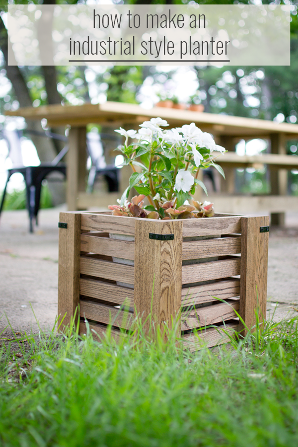 industrial style planter