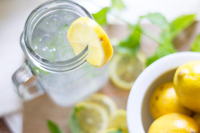 minty coconut lemonade